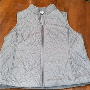 Croft & Barrow grey quilted vest size XL